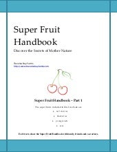 Super Fruit Handbook Learn The Heal...