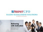 SuperCFO Talent Management Solution...