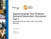 Part 1 - Supercharging Your Webinar...