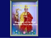 Biography of the Most Venerable Thi...