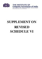 Supplement on revised schedule vi 1...