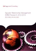 Supplier Relationship Management (SRM) Research 2012-2013