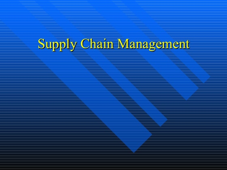 Phd research proposal in supply chain management