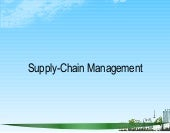 Supply chain management ppt @ bec doms
