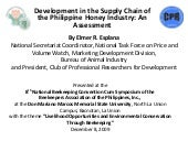 Development in the Supply Chain of ...