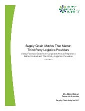 Supply Chain Metrics That Matter: T...