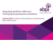 Supporting medicines adherence   de...
