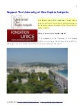 Support the University Nice Sophia Antipolis