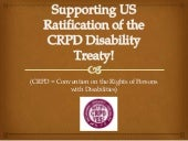 Support US Ratification of the CRPD...