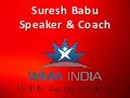 Digital Marketing Speaker India. Suresh Babu, Speaker & Marketing Coach