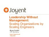 Leadership Without Management: Scal...