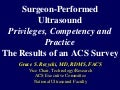 Surgeon Performed Ultrasound Privileges, Competency And Practice