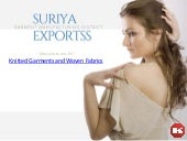 Suriya exportss | Manufacturers Of Knitted Garments and Woven Fabrics.