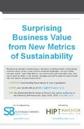 Surprising Business Value from New Metrics of Sustainability 2013
