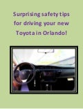 Surprising Orlando Toyota safety tips