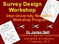 Survey design workshop