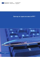 Survey on-open-access-in-fp7 en