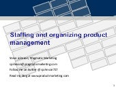 Organizing Product Management