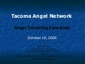 Susan Preston - Angel Investing Essentials - TacomaAngel Network