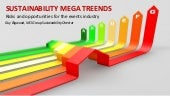 Sustainability mega trends: Risks and opportunities for the events industry