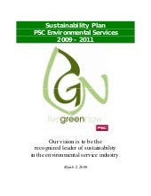 Sustainability Plan 03 02 09