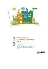 Hera Group Sustainability Report 2010