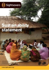 Sustainability Statement