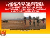 Sustainable agriculture and climate...
