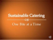 NACE presentation - Sustainable cat...