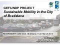 Sustainable Mobility in the City of Bratislava