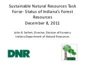 Status of Indiana's Forest Resource...