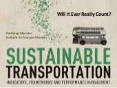 Sustainable Transportation: Will It Ever Really Count?