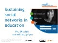 Sustaining Social Networks
