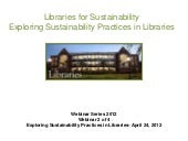 Libraries for Sustainability: Explo...