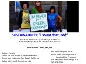 """Sustainability! - I Want that..."