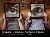 Introduction to Information Architecture & Design - 3/21/15