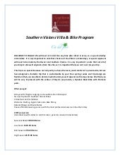 Sv Puglia 7 Day Villa And Bike Prog...