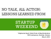 No Talk, All Action: Lessons Learned from Startup Weekend: Library Edition