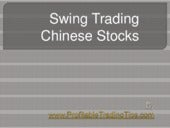 Swing Trading Chinese Stocks