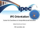 School of Social Work IPE Orientati...