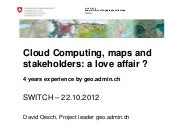 CloudComputing maps and stakeholders