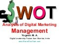SWOT Analysis of Digital Marketing Management