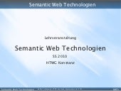 Semantic Web Technologies - SS 2010...