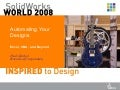 Sww 2008   Automating Your Designs   Excel, Vba And Beyond