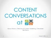 Top 4 Content Conversations at SXSW...