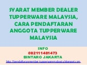 Syarat member dealer tupperware mal...