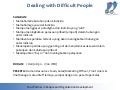 Syllabus training dd consulting dealing with difficult people