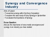 Synergy & Covergence
