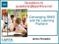 Synetrix Leadership Forum, Converging The Learning Platform With Sims
