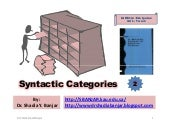 Syntactic categories, by dr. shadia...